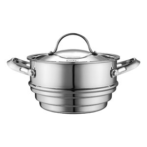 Multi-Ply Clad Stainless-Steel Universal Steamer Insert with Lid