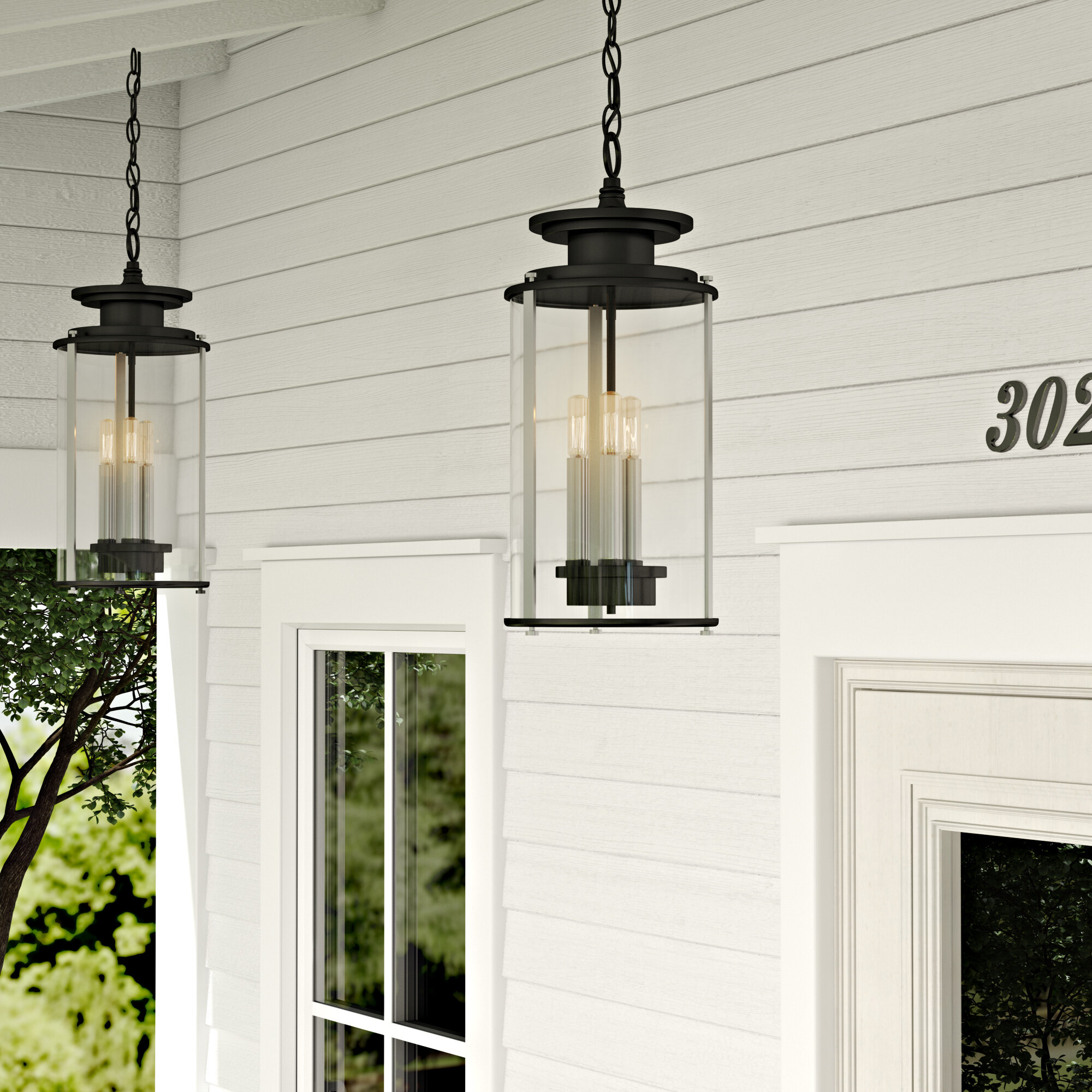 17 stories evgenia 3 light outdoor hanging lantern reviews wayfair