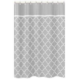 Trellis Brushed Microfiber Single Shower Curtain