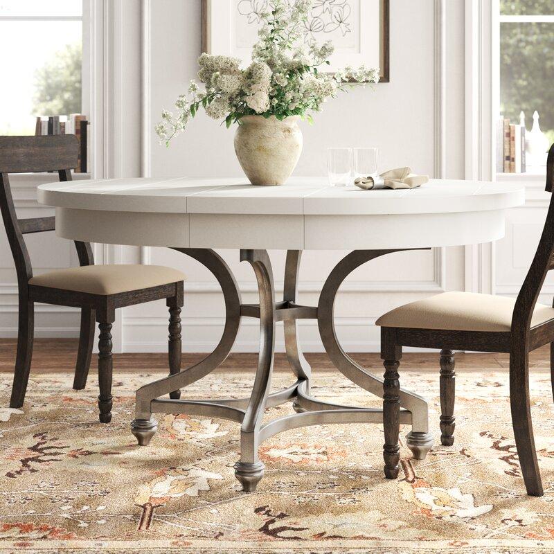 Kelly Clarkson Home Jaclin Extendable Trestle Dining Table Reviews Wayfair