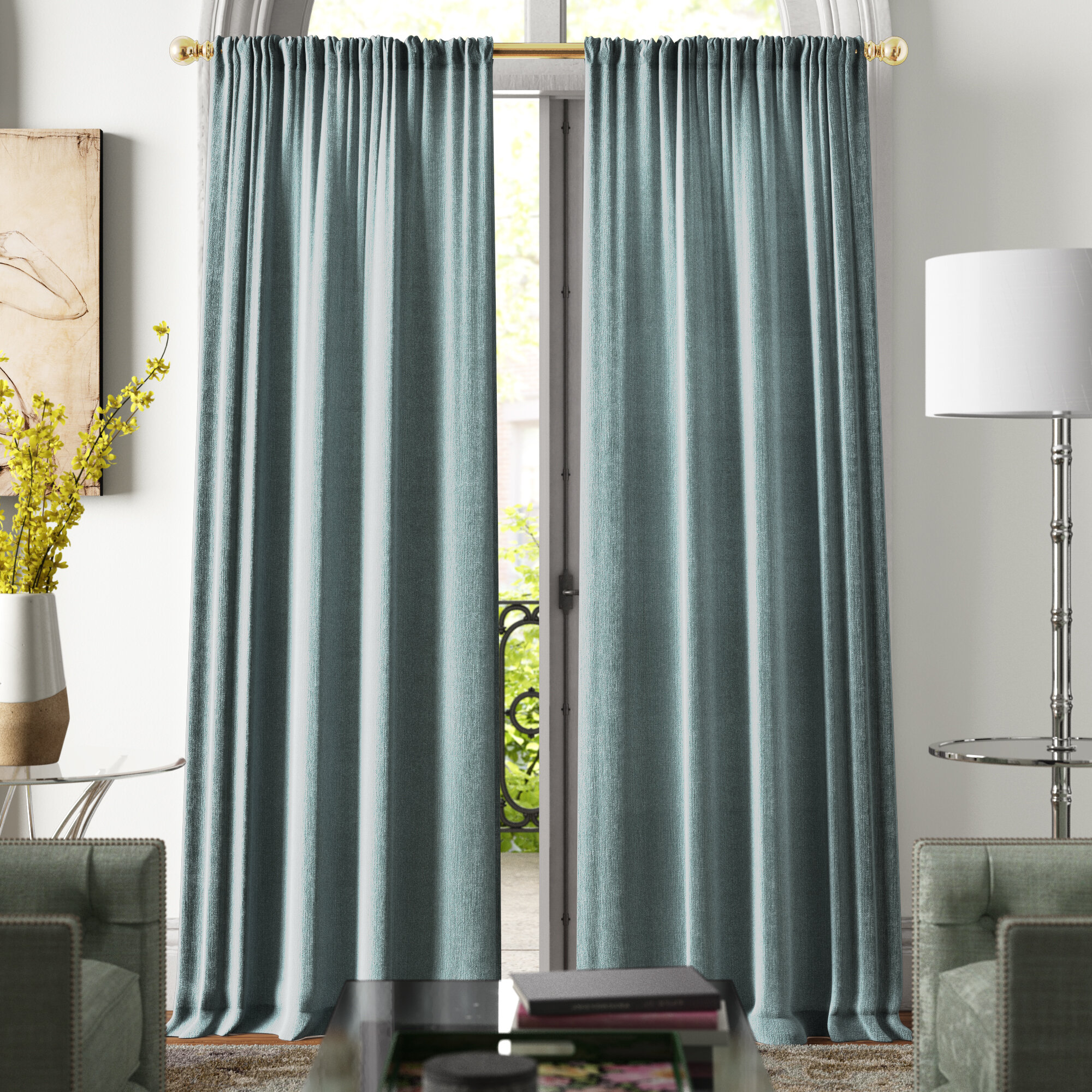 Home Garden Curtains Drapes Valances Teal Solid Contemporary 100 Blackout Window Curtain Drapes Rod Pocket Panel