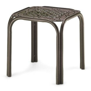 Square Cast Top Aluminum Side Table (Set of 4)