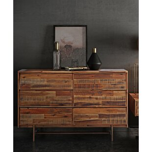 Clover 6 Drawer Double Dresser by Foundry Select