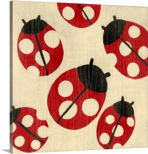 Great Big Canvas Best Friends Ladybugs By Chariklia Zarris Canvas Art Wayfair