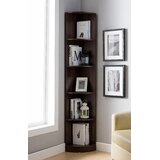 Catherne 70.75 H x 11.5 W Corner Bookcase with Bins by Latitude Run®