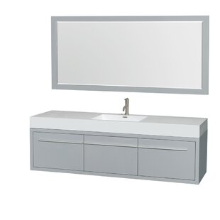 Axa 72 Single Bathroom Vanity Set with Mirror by Wyndham Collection