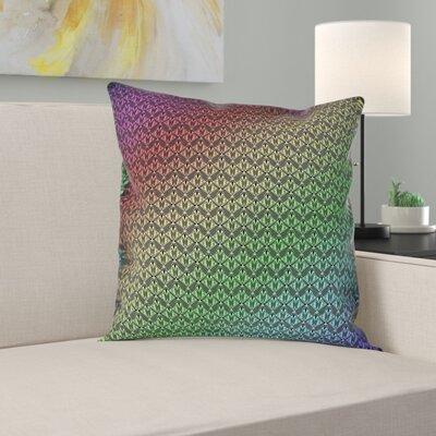 Latitude Run Avicia Art Deco Throw Pillow Latitude Run Size 16 X 16 Color Black Rainbow Material Faux Suede Dailymail
