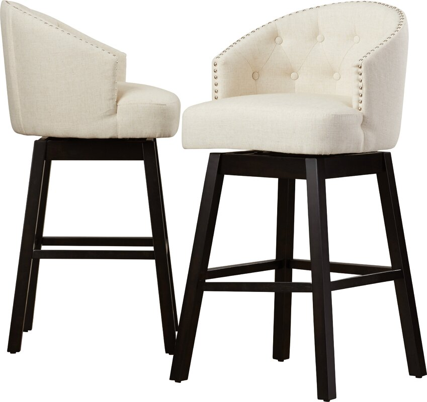 Marvelous Venice Tufted Barstool (Set Of 2)