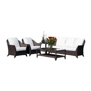Beachcrest Home Mabel 5 Piece Sunbrella Sofa Set with Cushions