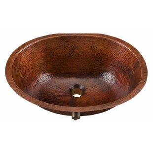 Sinkology Freud Metal Oval Undermount Bathroom Sink with Overflow