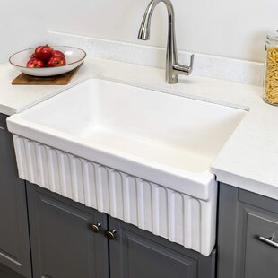 Maykke Victoria Fluted Fireclay 30