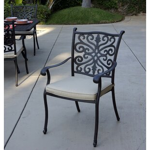 Burgher Stacking Patio Dining Chair with Cushion (Set of 4)