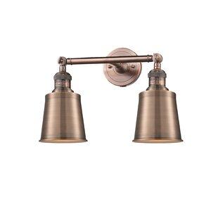 Copper Bathroom Vanity Lighting Youll Love Wayfair - Copper bathroom light fixtures