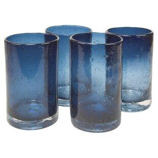 Art Glass Dedicated Cobalt Blue Cut Crystal Beverage Glasses Durable Service