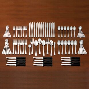Pearl 80 Piece Flatware Set, Service for 12