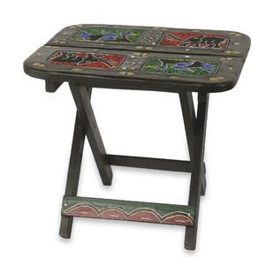 Bloomsbury Market Ronnie Fauna Beaded Folding End Table