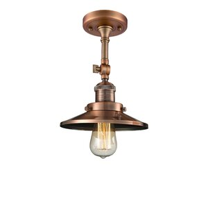 Mikesell 1-Light Semi Flush Mount by Williston Forge