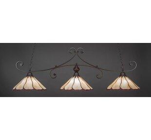August Grove Marylin 3-Light Pool Table Lights