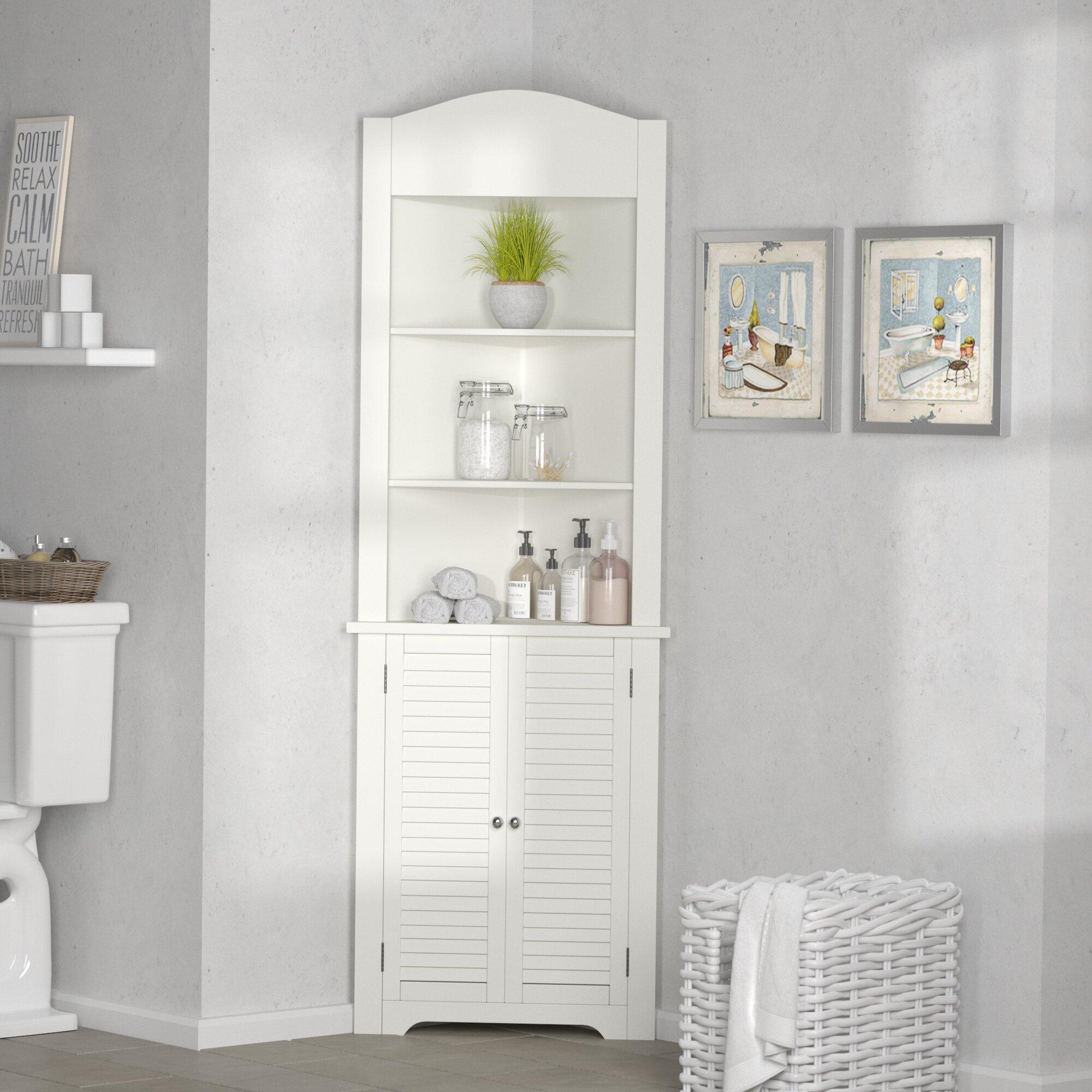 Rebrilliant Ellsworth 23 25 W X 68 31 H X 17 5 D Linen Cabinet Reviews Wayfair