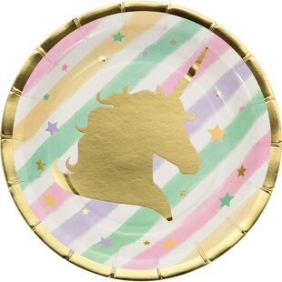 Unicorn Sparkle Paper Disposable Dessert Plate