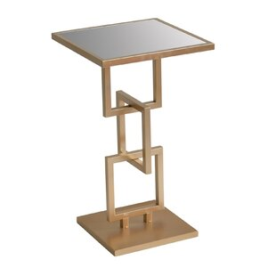 Ziva Abstract Metal End Table by Mercer41