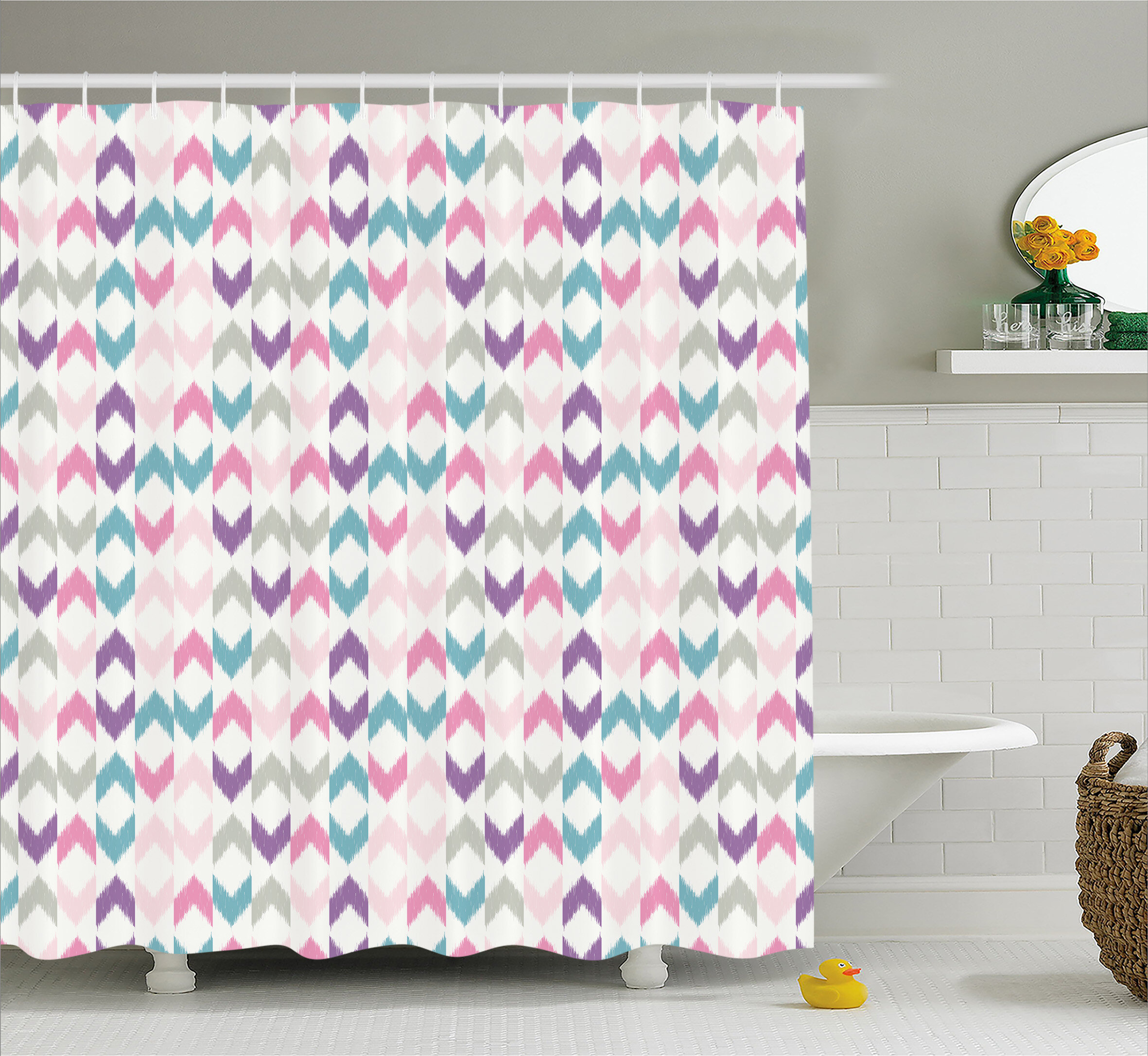 Harriet Bee Adonis Eastern Chevron Boho Shower Curtain