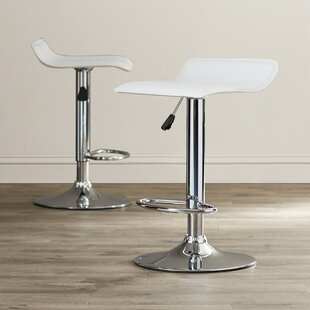 Gould Adjustable Height Bar Stool Set (Set of 2) Wade Logan