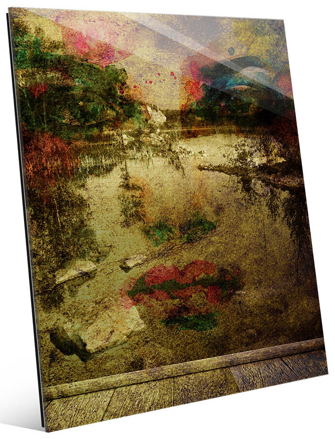 Click Wall Art Longing For The Lake Graphic Art Print On Glass In Beige Wayfair