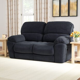 Gracehill Modern Upholstered Reclining Loveseat by Three Posts