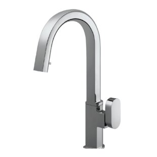 Houzer Azura Hidden Pull Down Single Handle Kitchen Faucet
