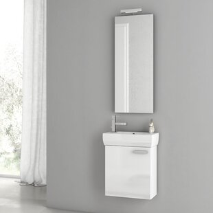 Cubical 20 Wall-Mounted Single Bathroom Vanity Set with Mirror