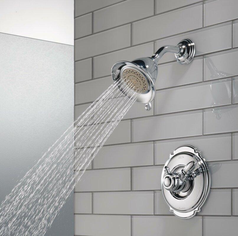 Beautiful Victorian Pressure Balanced Diverter Shower Faucet Trim With Lever Handles
