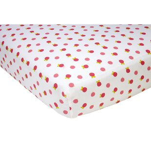 Best Reviews Raspberry Fitted Crib Sheet By Sadie & Scout