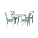 Leslie 5 Piece Extendable Solid Wood Dining Set by Highland Dunes