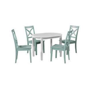 Leslie 5 Piece Extendable Solid Wood Dining Set