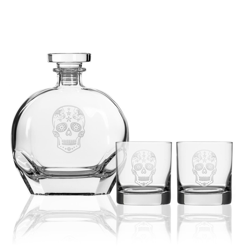 Wrought Studio Barreras 3 Piece Whiskey Decanter Set Reviews Wayfair