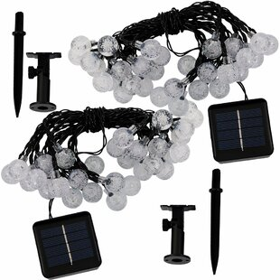 The Holiday Aisle Borden LED Solar Powered 30 Light Globe String Light