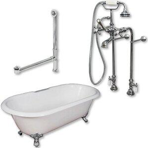 60 x 30 freestanding tub. 60  x 30 Freestanding Soaking Bathtub Tub Shower Combo Wayfair