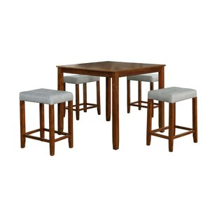 Innis 5 Piece Solid Wood Dining Set Ebern Designs