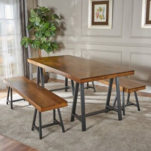 Mannino Wood Picnic 3 Piece Dining Set