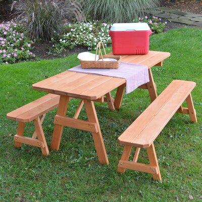 Roseboom Solid Wood Picnic Table by Loon Peak 2020 Coupon