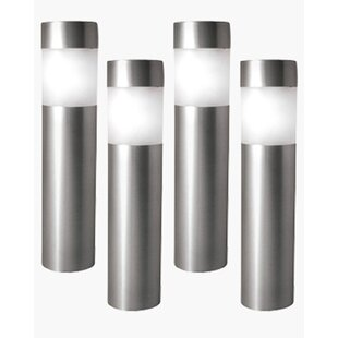 Paradise Garden Lighting Solar 1-Light Bollard Light (Set of 4)