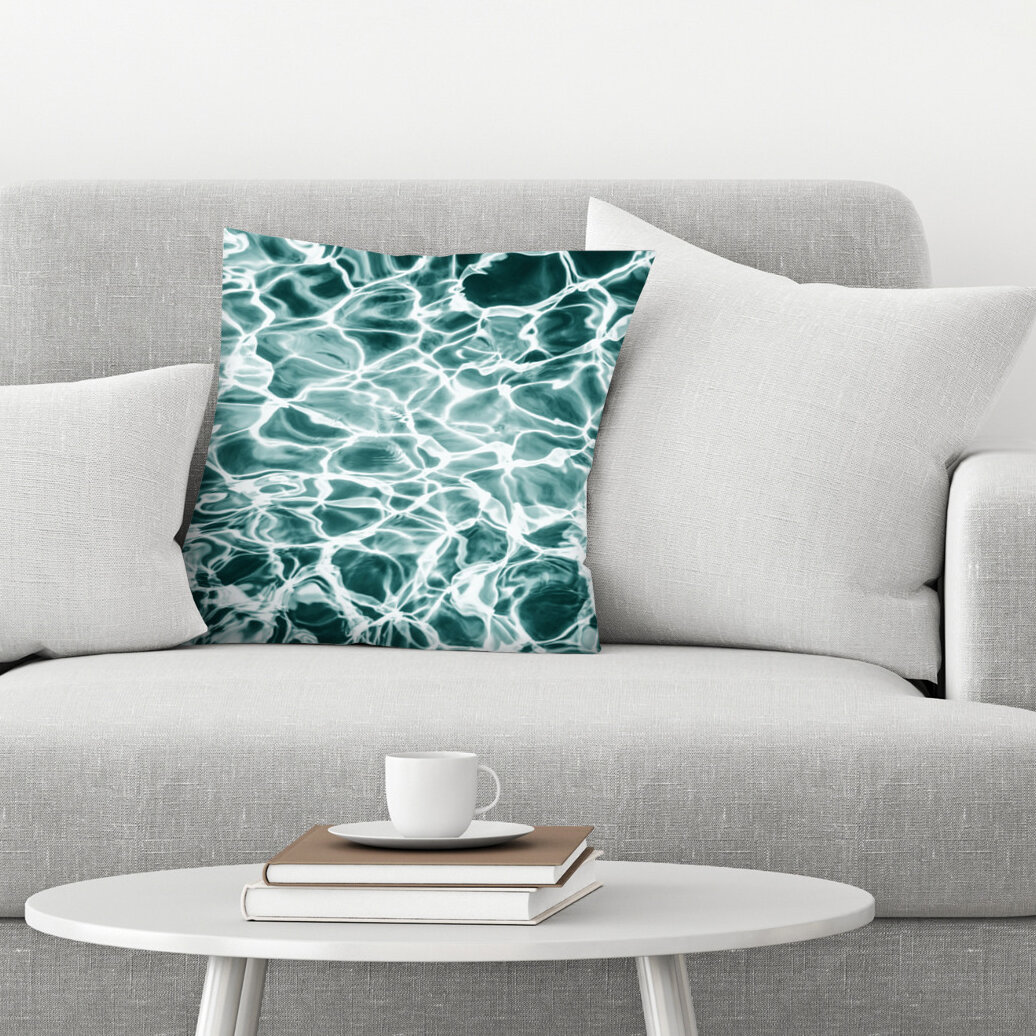 East Urban Home Abstract Water Throw Pillow Wayfair