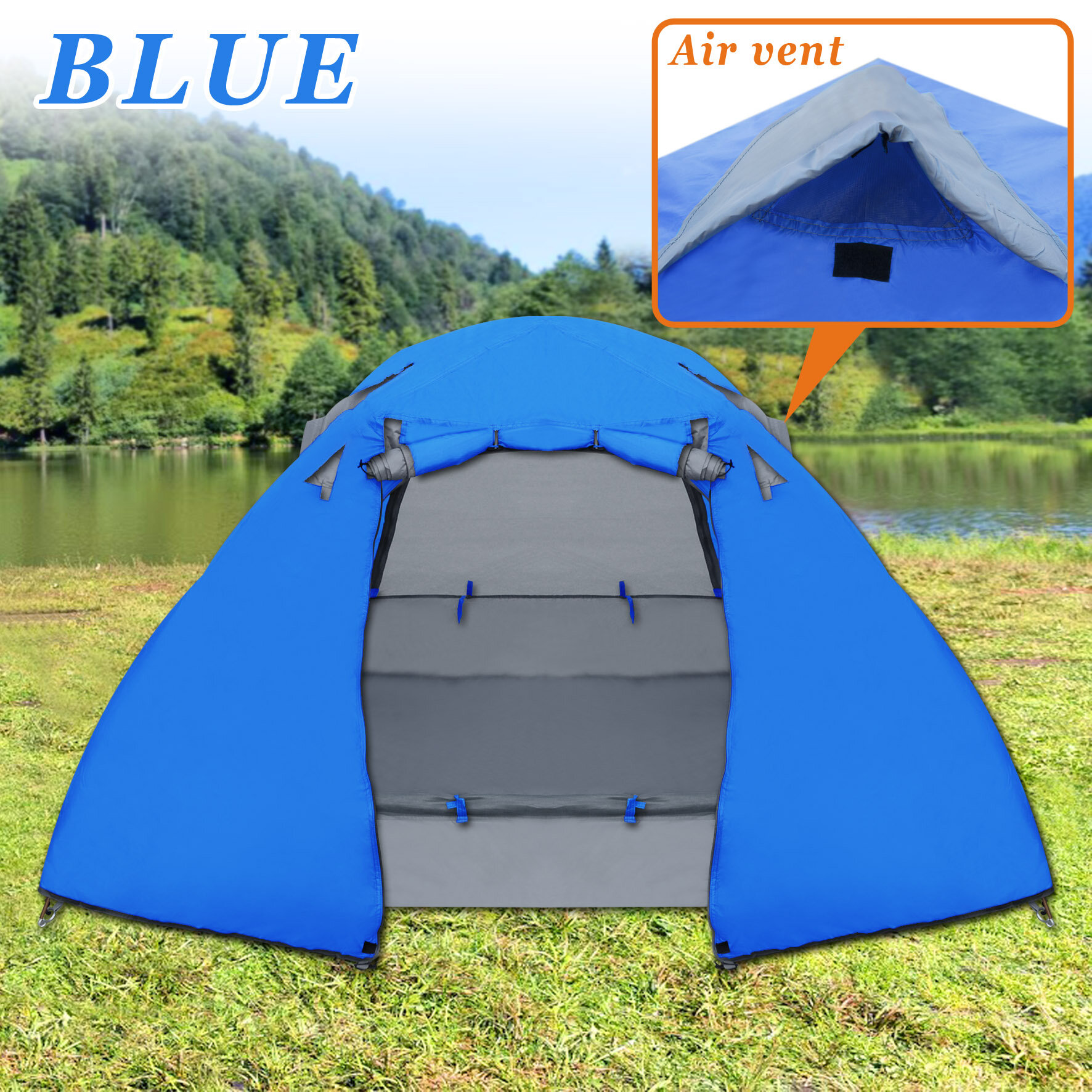 & StrongCamel Portable Backpacking 1-2 Person Tent Waterproof | Wayfair