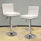 Maxman Swivel Adjustable Height Bar Stool (Set of 2) by Orren Ellis