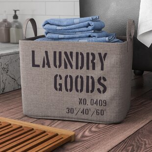 Williston Forge Army Canvas Laundry Basket