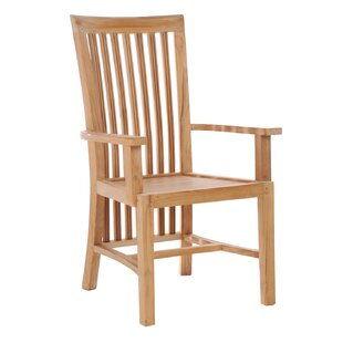 Naveen Teak Patio Dining Arm Chair
