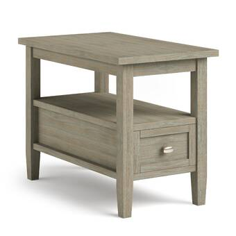 Winston Porter Oyama Solid Wood End Table With Storage Reviews Wayfair