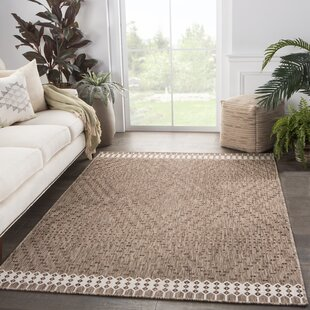 Tirana Borders Brown/Ivory Indoor/Outdoor Area Rug