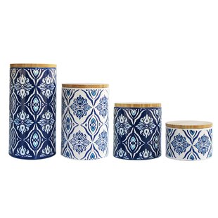 Pirouette 4 Piece Kitchen Canister Set
